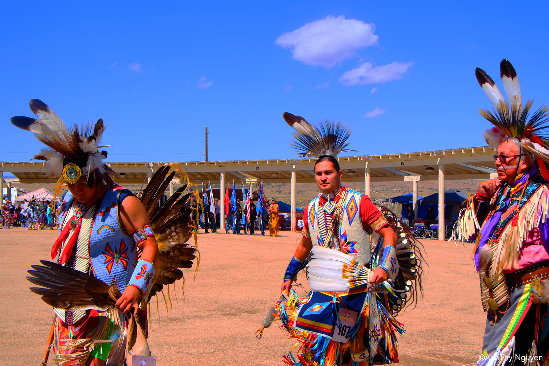 Dancers are entering Pow Wow celebration 8 - Native American Tradion
