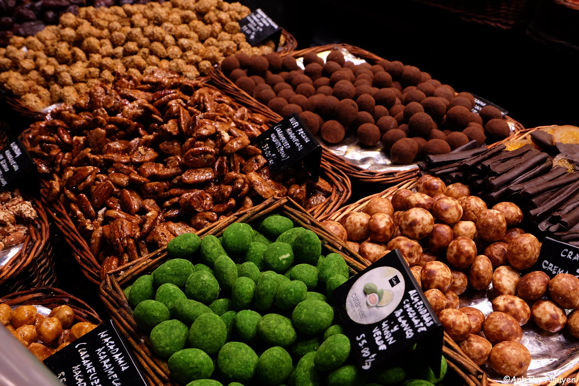 La Boqueria Food Market Barcelona - Chocolate and Nut