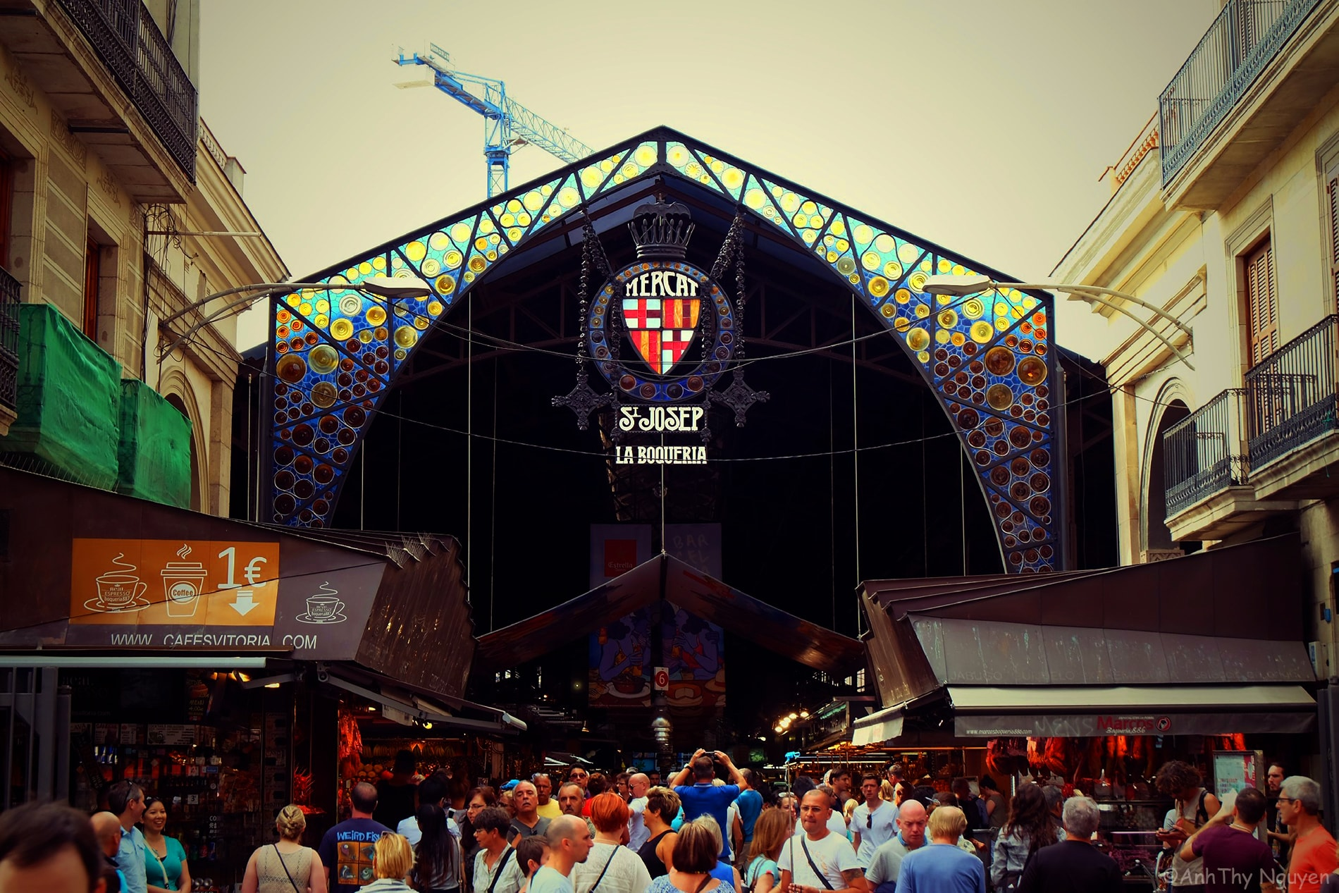 The entrance - La Boqueria Food Market Barcelona