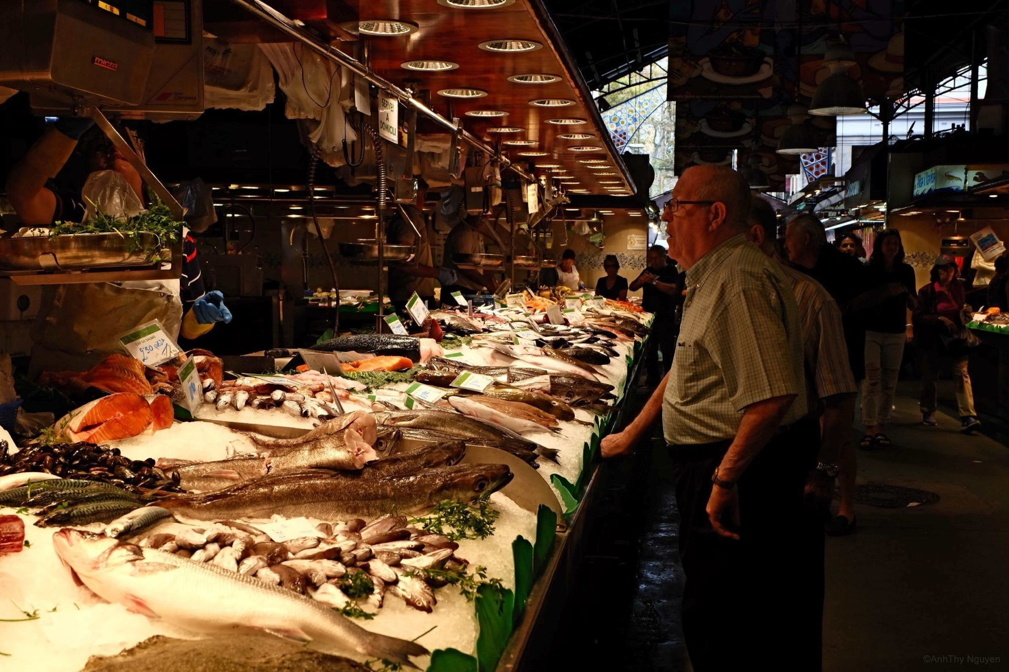 Fresh fish in La Boqueria Food Market Barcelona 3